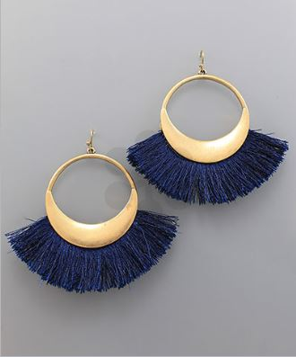 Fan Tassel Circle Earring