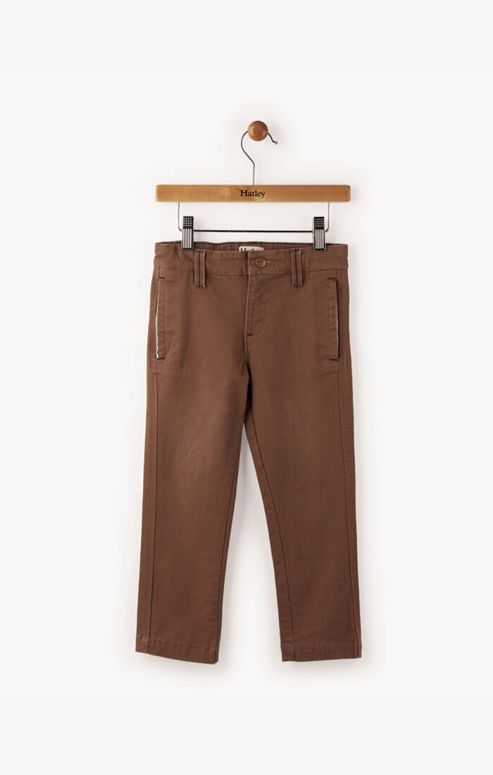Chocolate Twill Khakis
