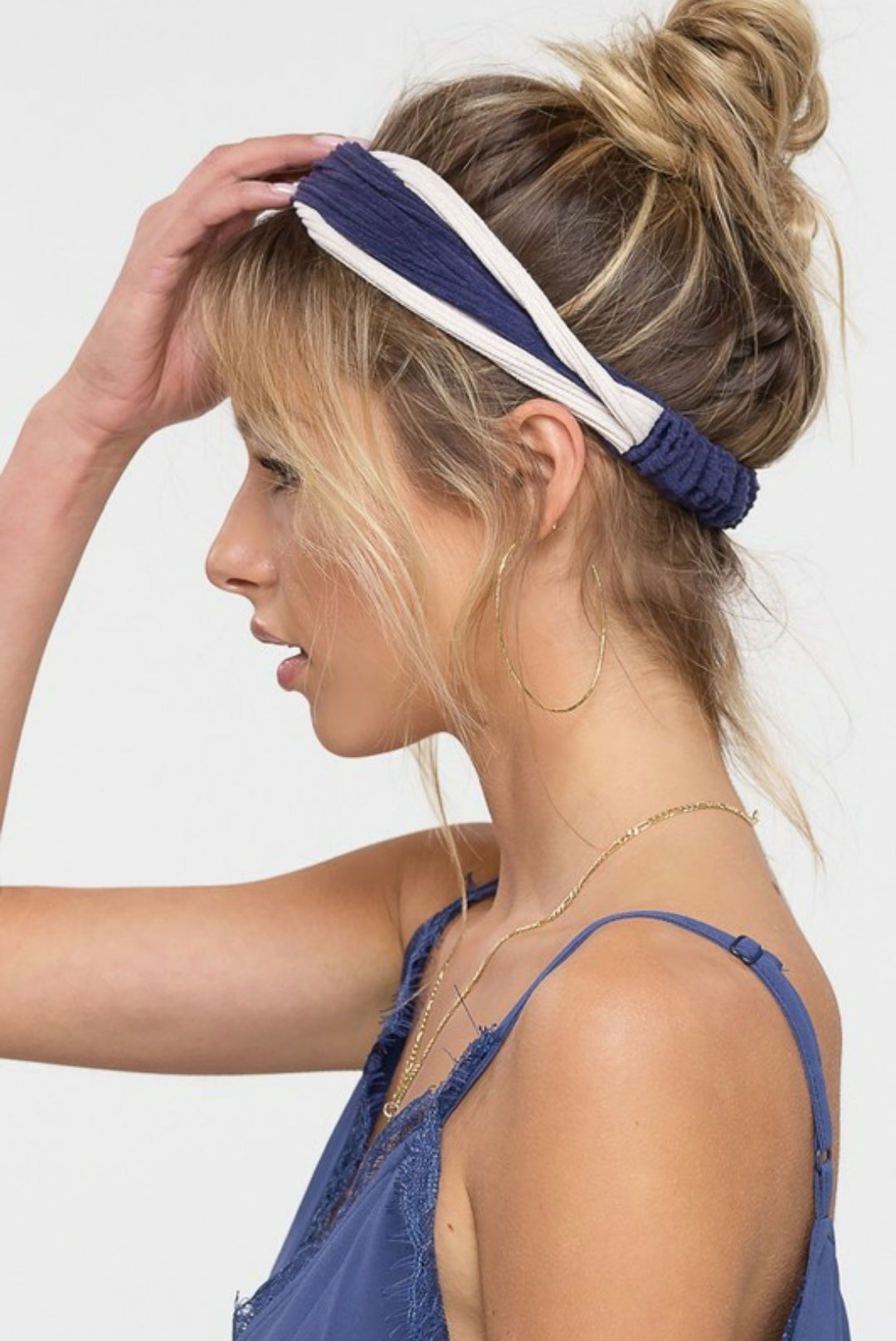 TWO TONED KNOT HAIR BAND