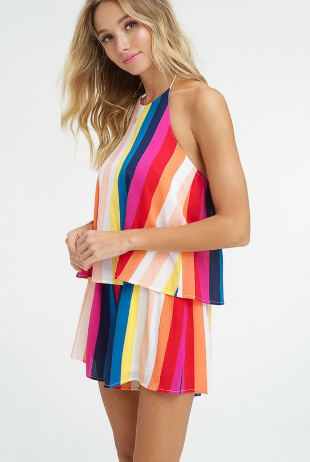 LUCKY STRIPE ROMPER