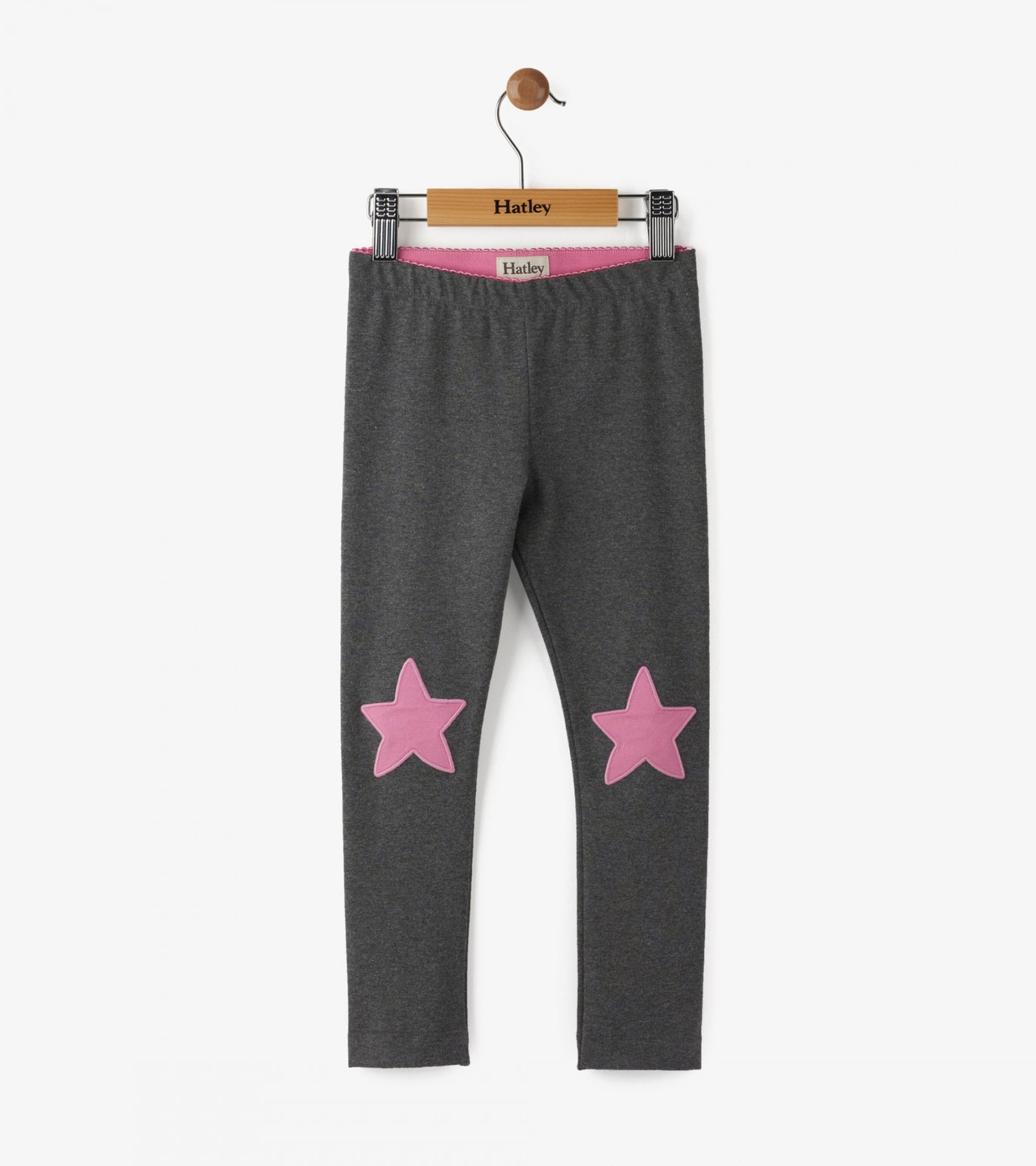 Glitter Charcoal Stars Leggings
