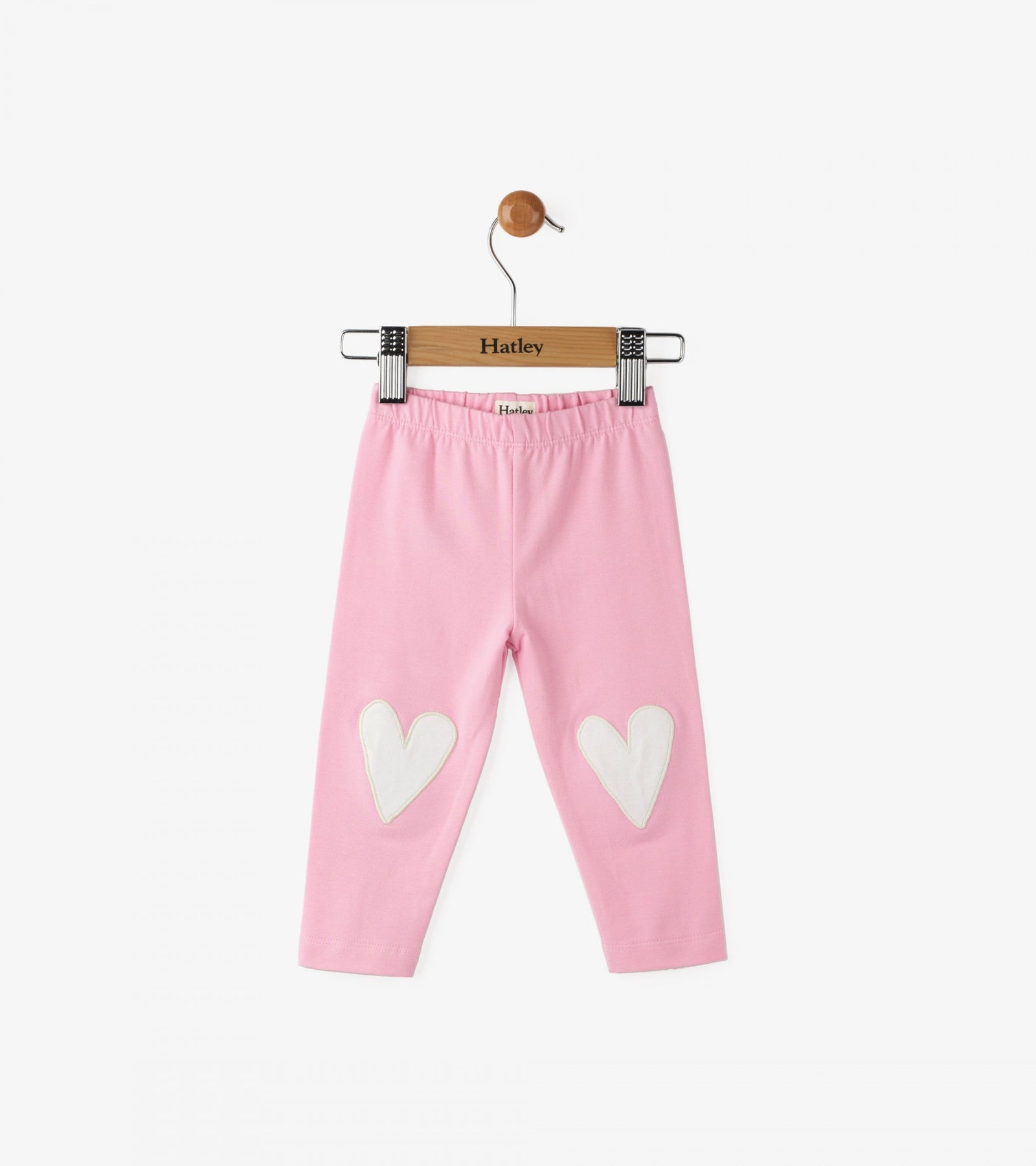 Pink Glittering Hearts Baby Leggings