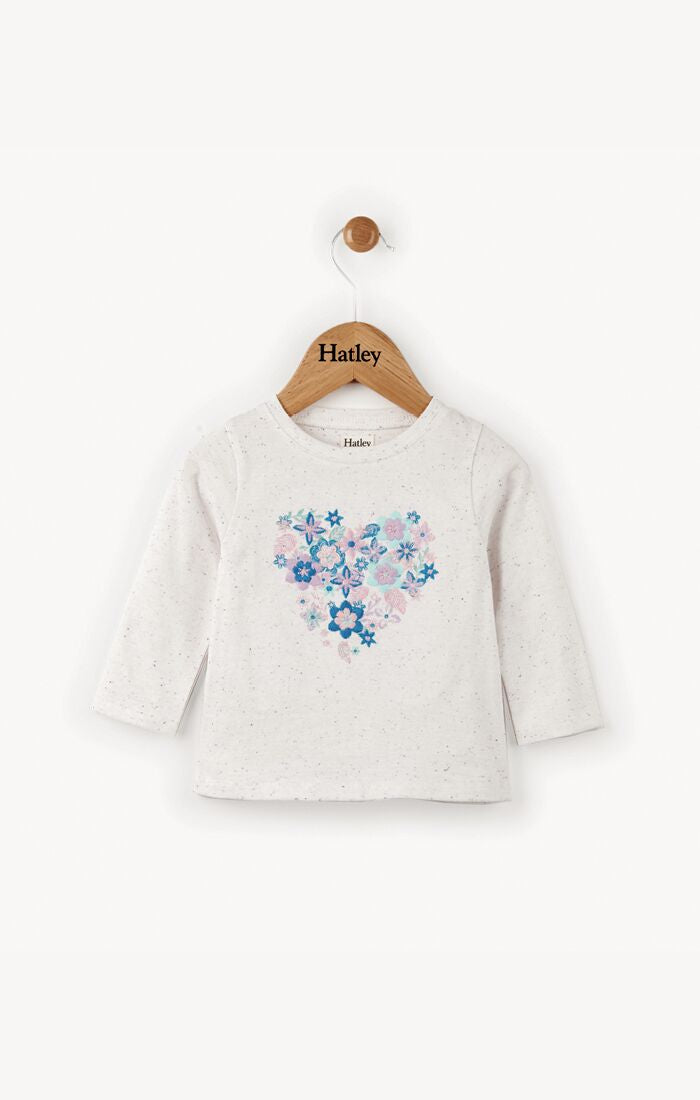 Blooming Heart Long Sleeve Baby Tee
