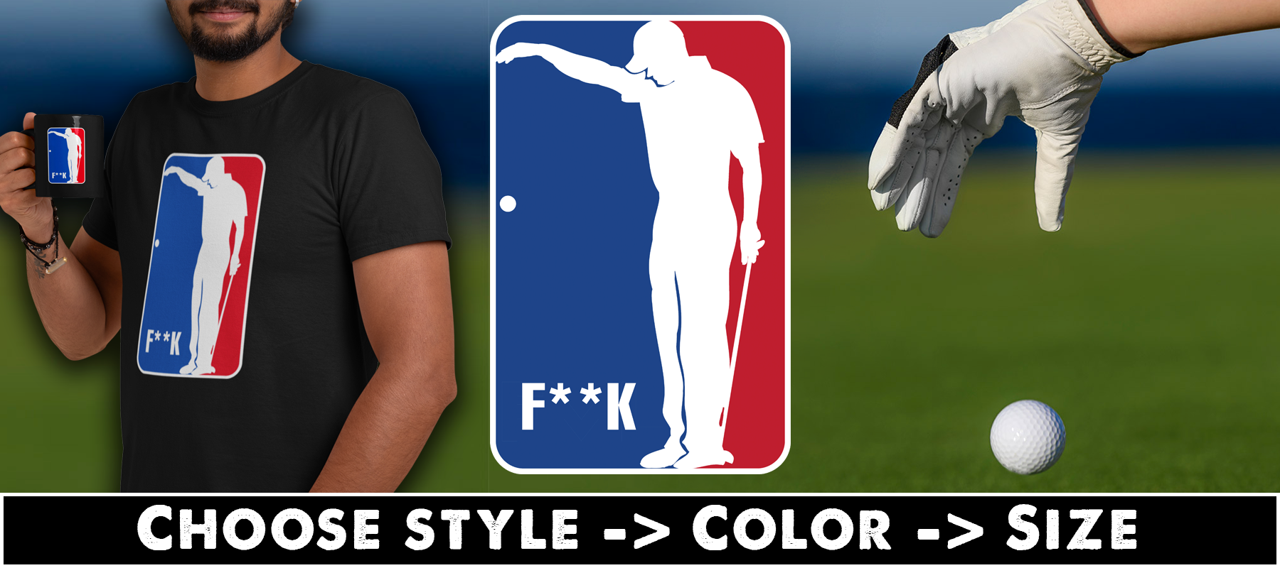 F**k Golf T-shirts, Hoodies & Mugs