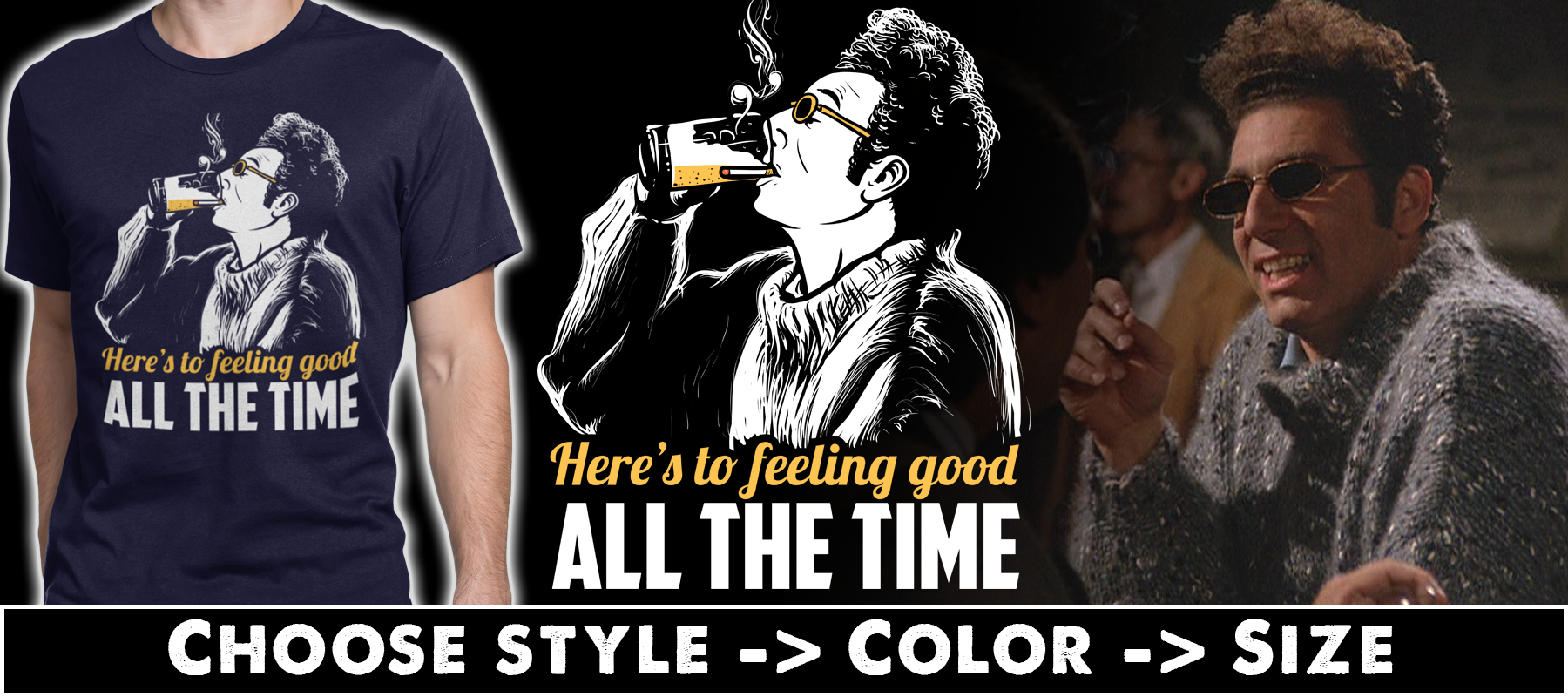 Feeling Good T-shirts, Hoodies & Mugs