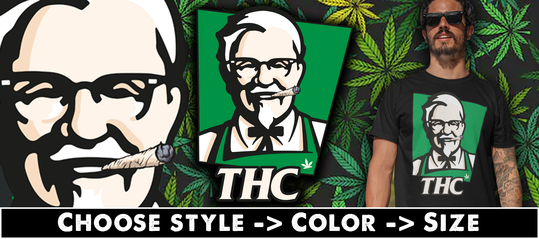Not KFC...THC T-shirts, Hoodies & Mugs