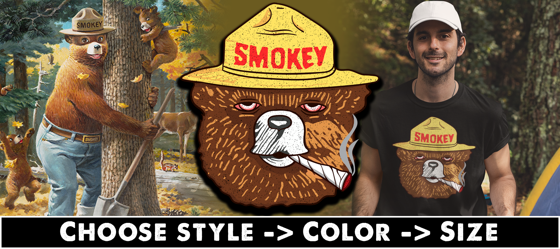 Smokey T-shirts, Hoodies & Mugs