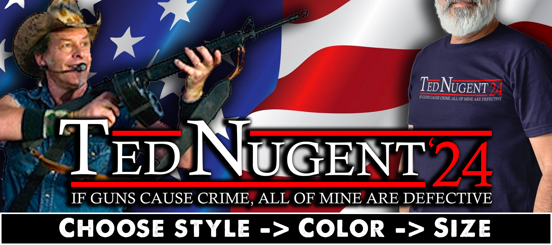 Ted Nugent 24 T-shirts, Hoodies & Mugs