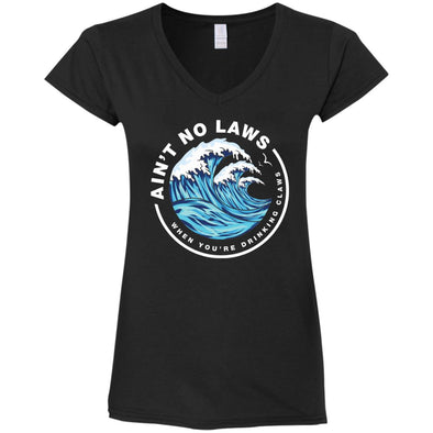 Drinking Claws Ladies Fitted V-Neck