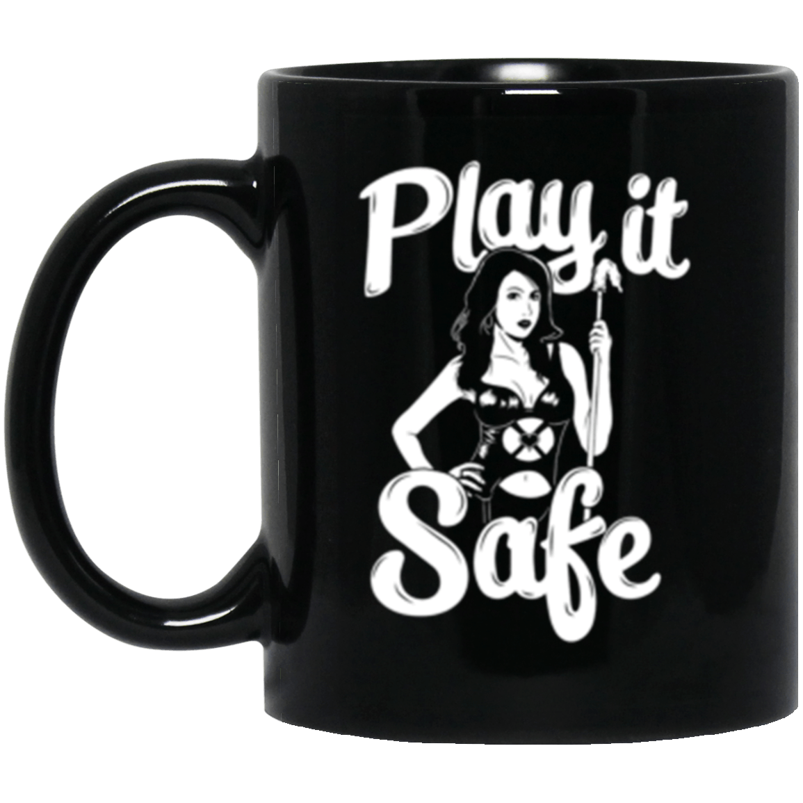 Play it Safe Black Mug 11oz (2-sided)