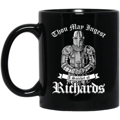 Ingest Richards Black Mug 11oz (2-sided)