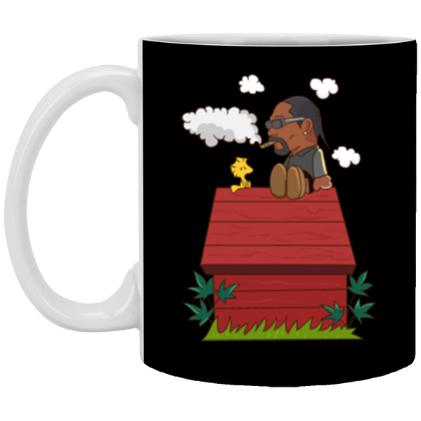 Snoopy Dogg White Mug 11oz (2-sided)