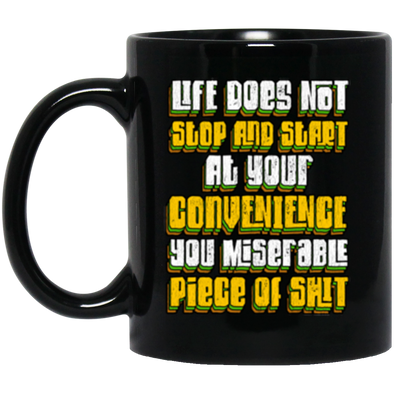 Stop and Start Black Mug 11oz (2-sided)