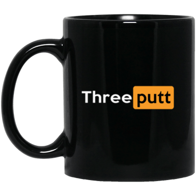 Three Putt Black Mug 11oz (2-sided)