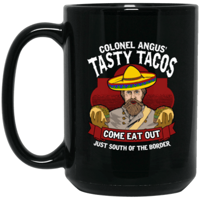 Tasty Tacos Black Mug 15oz (2-sided)