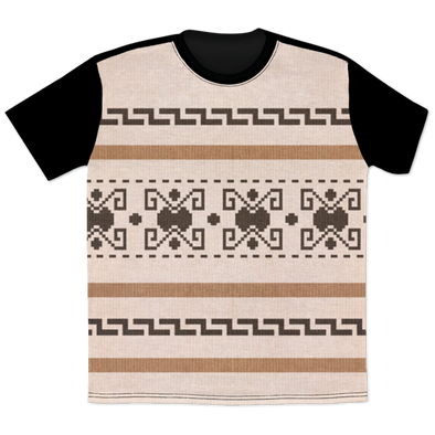 Lebowski Cardigan Pattern All Over Print Tee