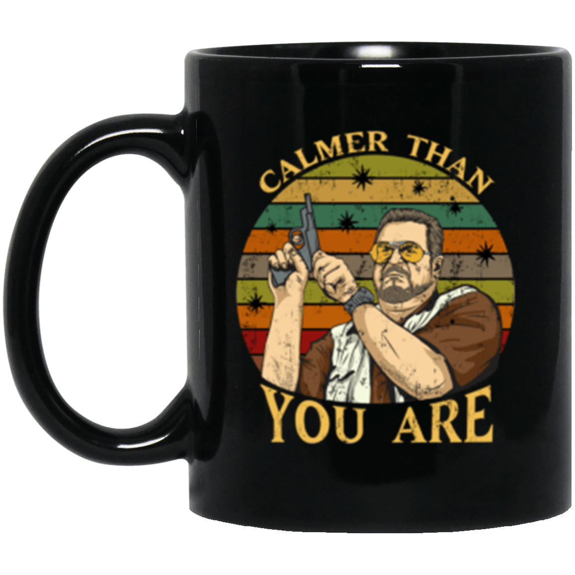 Calmer Black Mug 11oz (2-sided)