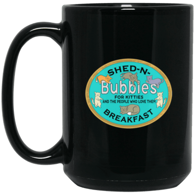 Bubbles' S&B Black Mug 15oz (2-sided)