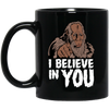Bigfoot Believe Black Mug 11oz (2-sided)