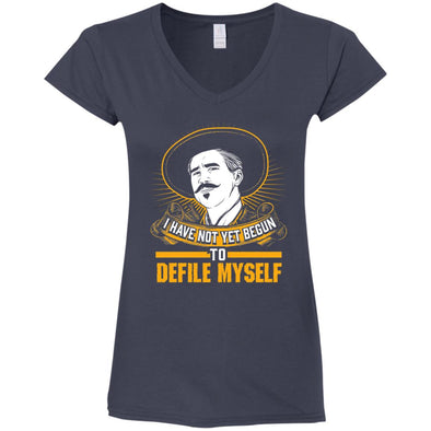 Defile Myself Ladies Fitted V-Neck