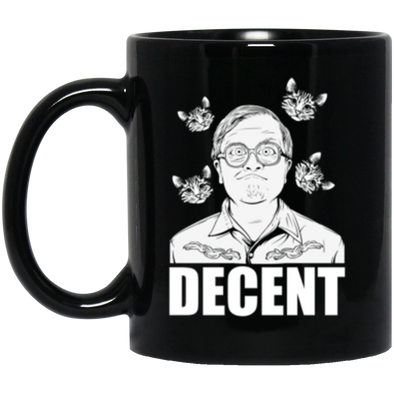 Decent Black Mug 11oz (2-sided)