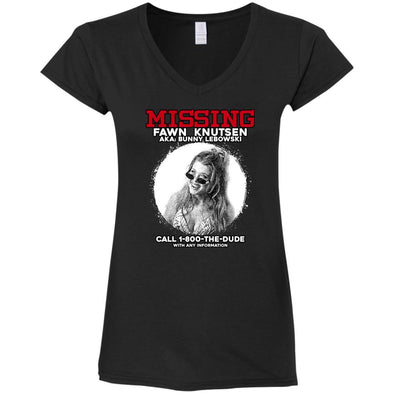 Bunny Missing Person Ladies V-Neck