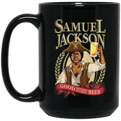 Sam Jackson Beer Black Mug 15oz (2-sided)