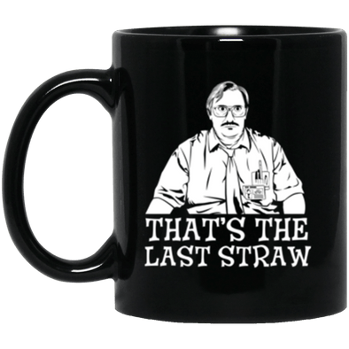 Milton Last Straw Black Mug 11oz (2-sided)