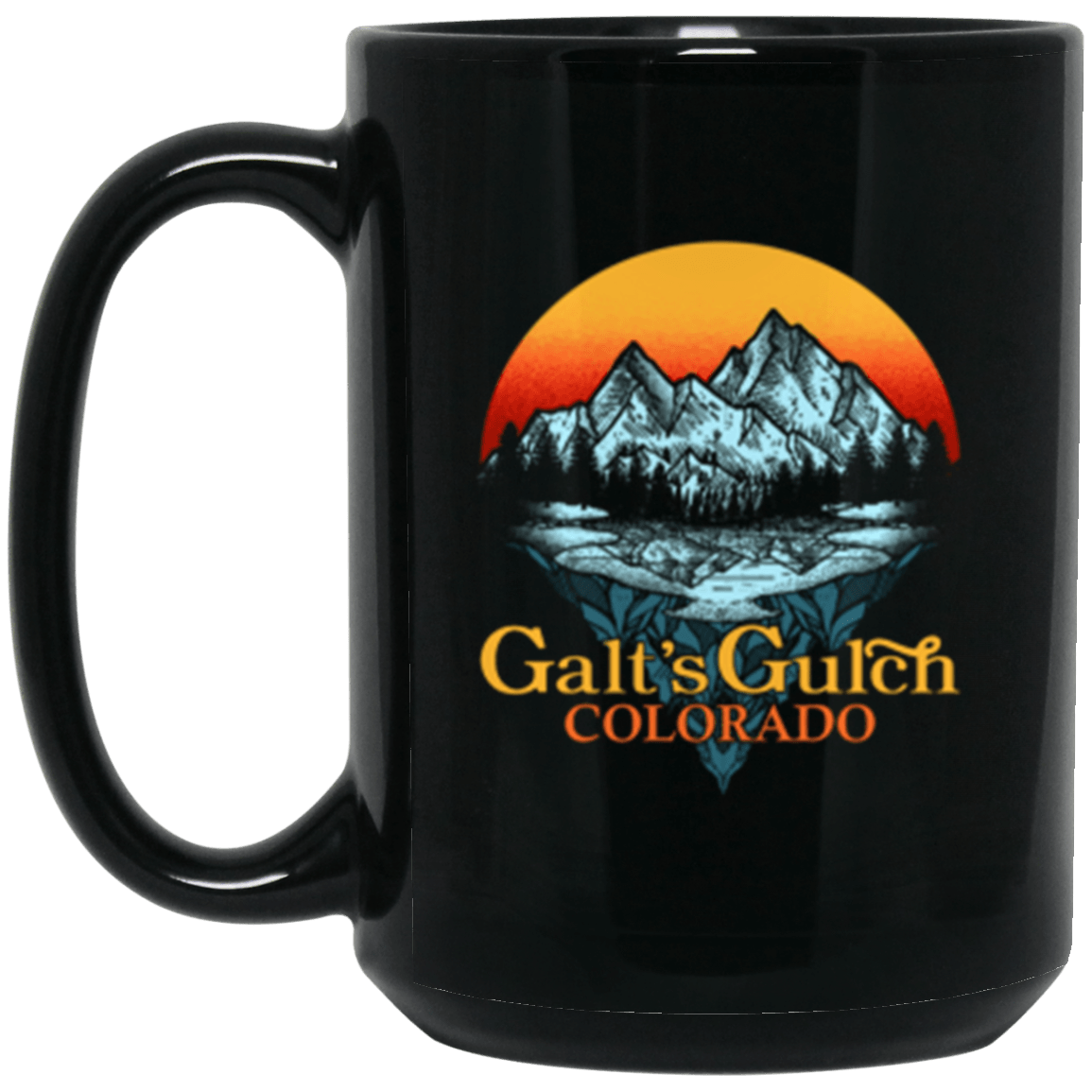 Galt's Gulch Black Mug 15oz (2-sided)