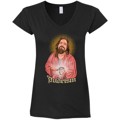 Dudeism Jesus Ladies V-Neck