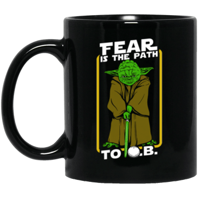 Yoda Golf Black Mug 11oz (2-sided)