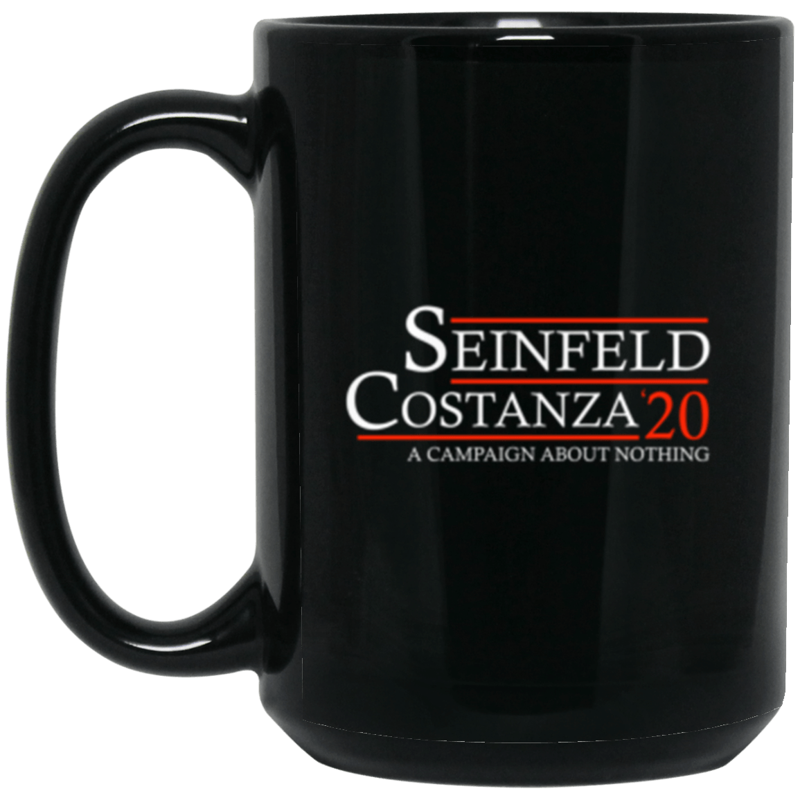 Seinfeld 20 Black Mug 15oz (2-sided)