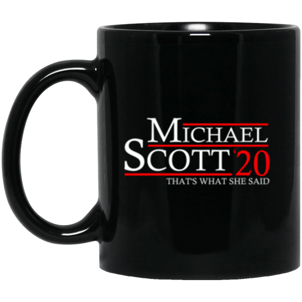 Michael Scott 20 Black Mug 11oz (2-sided)