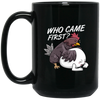 Chicken or Egg Black Mug 15oz (2-sided)