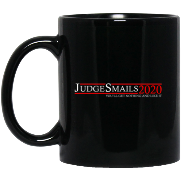 Judge Smails Black Mug 11oz (2-sided)