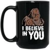 Bigfoot Believe Black Mug 15oz (2-sided)
