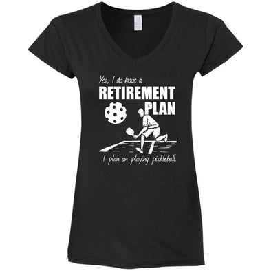 Pickleball Retirement Ladies V-Neck