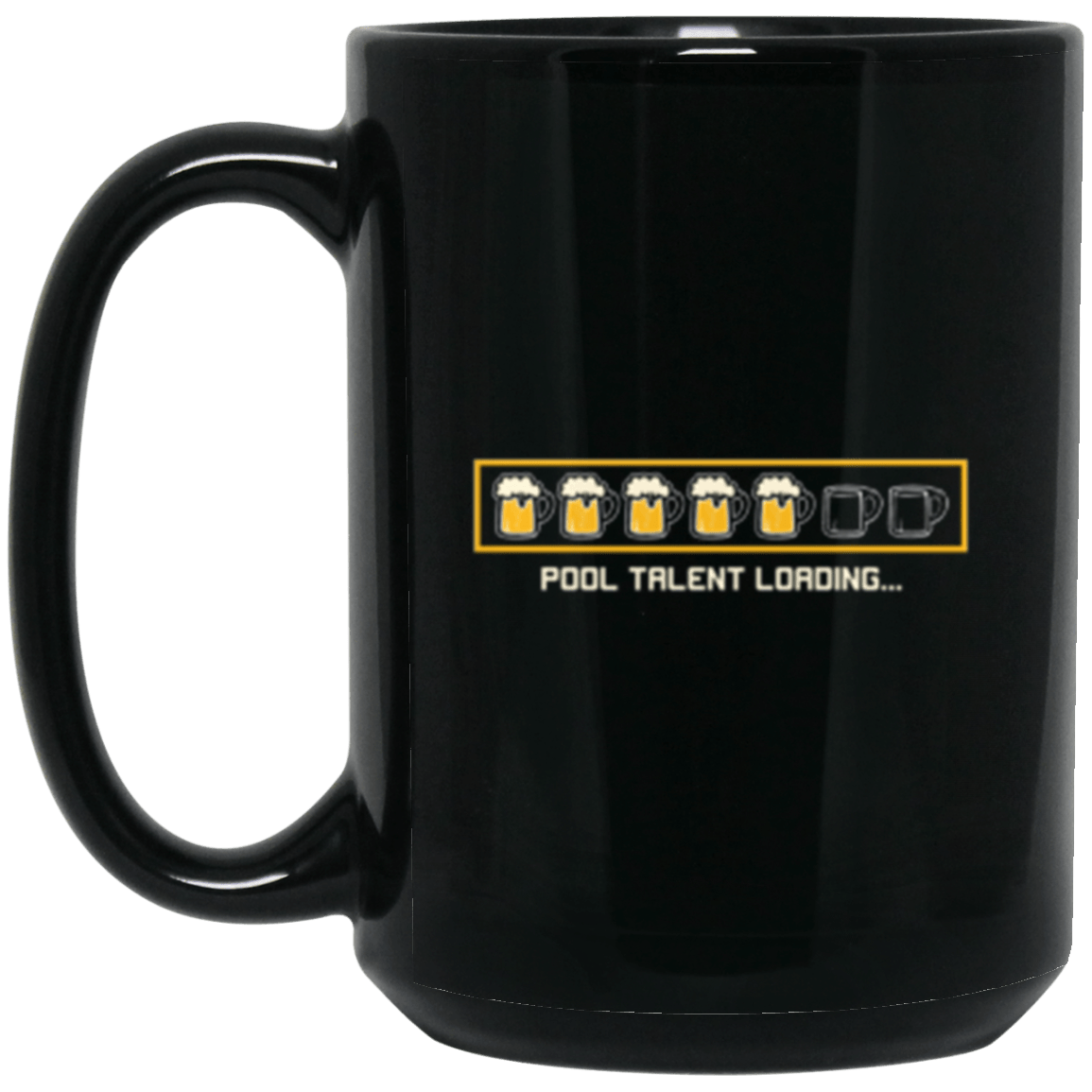 Pool Talent Black Mug 15oz (2-sided)
