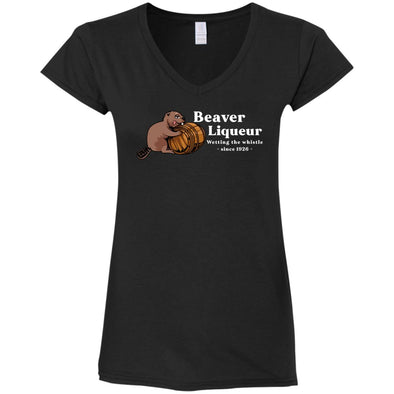 Beaver Liqueur Ladies Fitted V-Neck