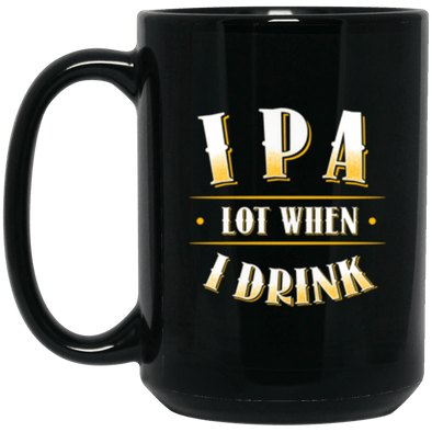 IPA Lot Black Mug 15oz (2-sided)