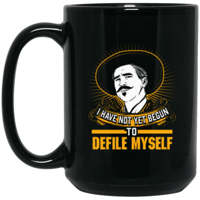 Defile Myself Black Mug 15oz (2-sided)