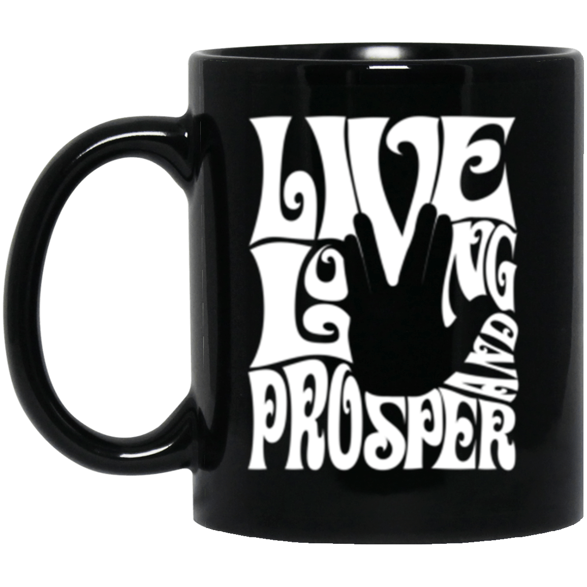 Prosper Retro Black Mug 11oz (2-sided)