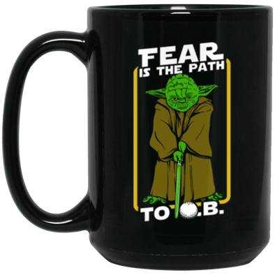 Yoda Golf Black Mug 15oz (2-sided)