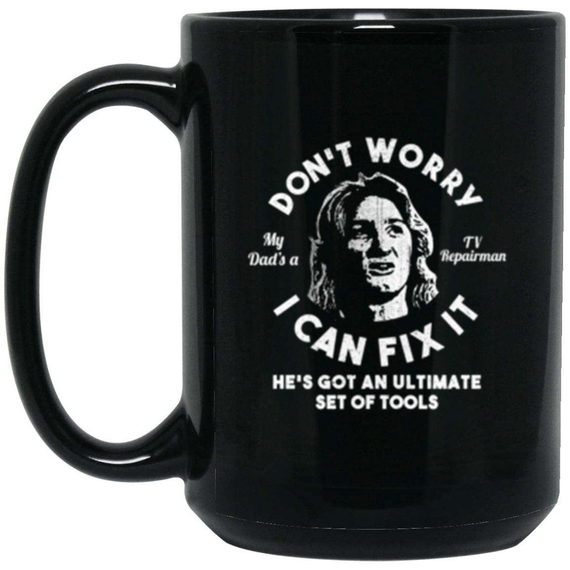 Spicoli Fix It Black Mug 15oz (2-sided)