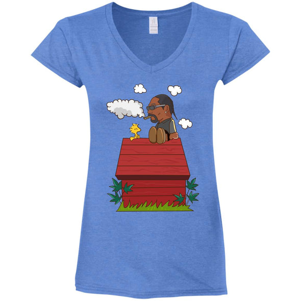 Snoopy Dogg Ladies Fitted V-Neck