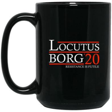 Locutus Borg 20 Black Mug 15oz (2-sided)