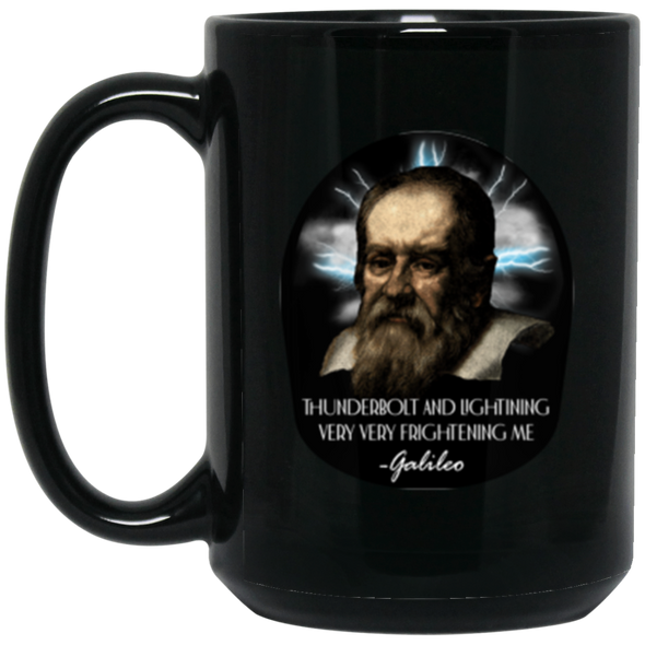 Galileo Black Mug 15oz (2-sided)