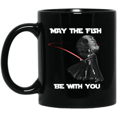 Fish Be With You Black Mug 11oz (2-sided)