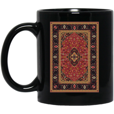 The Rug Pattern Black Mug 11oz (2-sided)