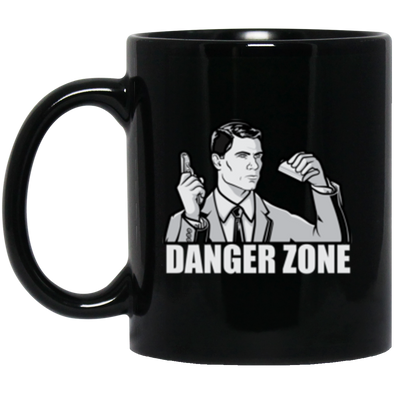 Danger Zone Black Mug 11oz (2-sided)